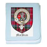 MacBean Clan Crest Tartan baby blanket