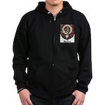 MacBean Clan Crest Tartan Zip Hoodie (dark)