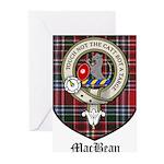 MacBean Clan Crest Tartan Greeting Cards (Pk of 20