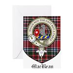 MacBean Clan Crest Tartan Greeting Card