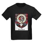 MacBean Clan Crest Tartan Kids Dark T-Shirt