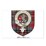 MacBean Clan Crest Tartan Postcards (Package of 8)
