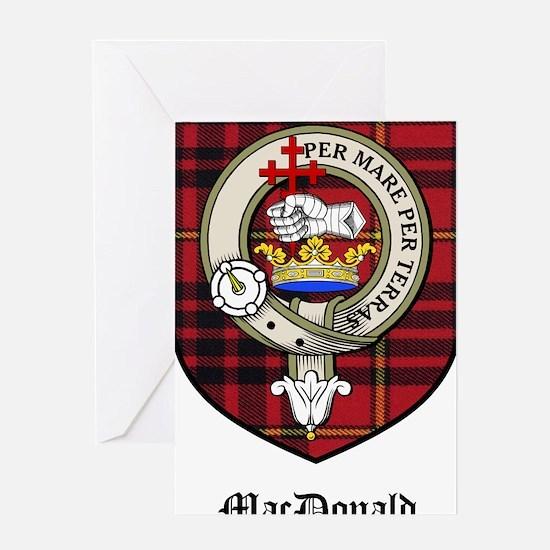 MacDonald Clan Crest Tartan Greeting Card