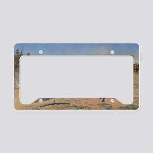 A Dash For Timber by Remingto License Plate Holder