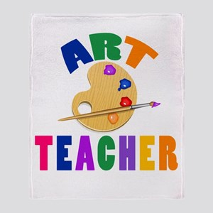 Art Teacher Throw Blanket