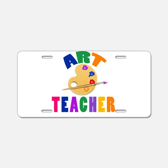 Art Teacher Aluminum License Plate