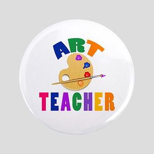 """Art Teacher 3.5"""" Button"""