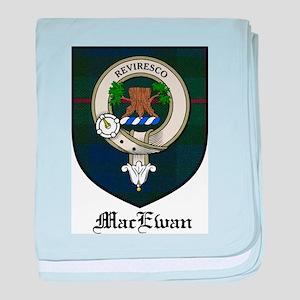 MacEwan Clan Crest Tartan baby blanket