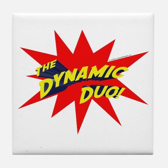 Dynamic Duo Tile Coaster