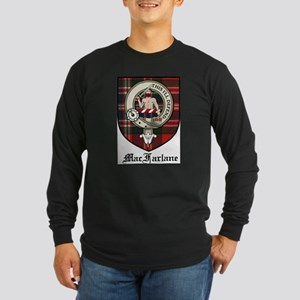 MacFarlane Clan Crest Tartan Long Sleeve Dark T-Sh