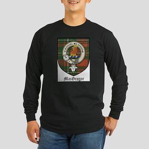 MacGregor Clan Crest Tartan Long Sleeve Dark T-Shi