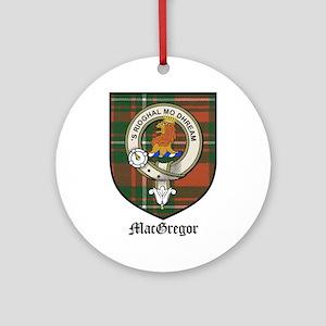 MacGregor Clan Crest Tartan Ornament (Round)