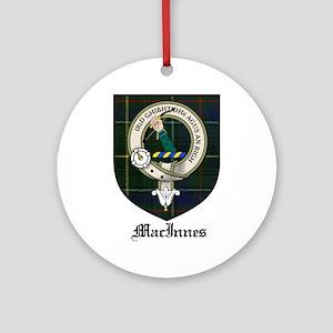 MacInnes Clan Crest Tartan Ornament (Round)