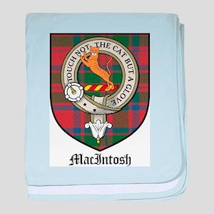 MacIntosh Clan Crest Tartan baby blanket