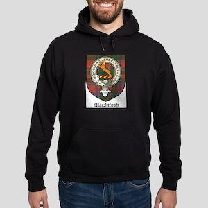 MacIntosh Clan Crest Tartan Hoodie (dark)