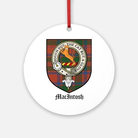 MacIntosh Clan Crest Tartan Ornament (Round)