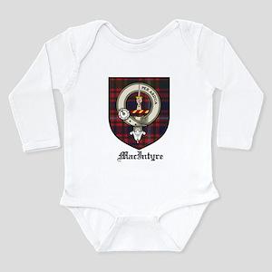 MacIntyre Clan Crest Tartan Long Sleeve Infant Bod