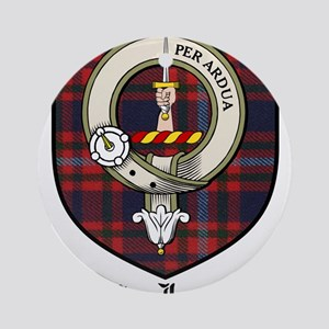 MacIntyre Clan Crest Tartan Ornament (Round)