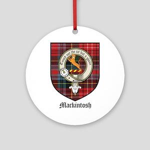 Mackintosh Clan Crest Tartan Ornament (Round)