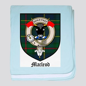 Macleod Clan Crest Tartan baby blanket