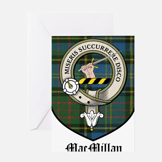 MacMillan Clan Crest Tartan Greeting Card