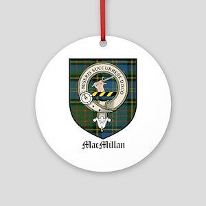 MacMillan Clan Crest Tartan Ornament (Round)