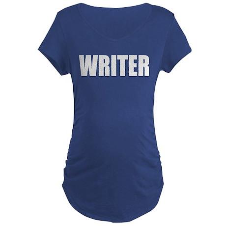 """Castle """"WRITER"""" Maternity Dark T-Shirt"""