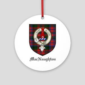 MacNaughton Clan Crest Tartan Ornament (Round)
