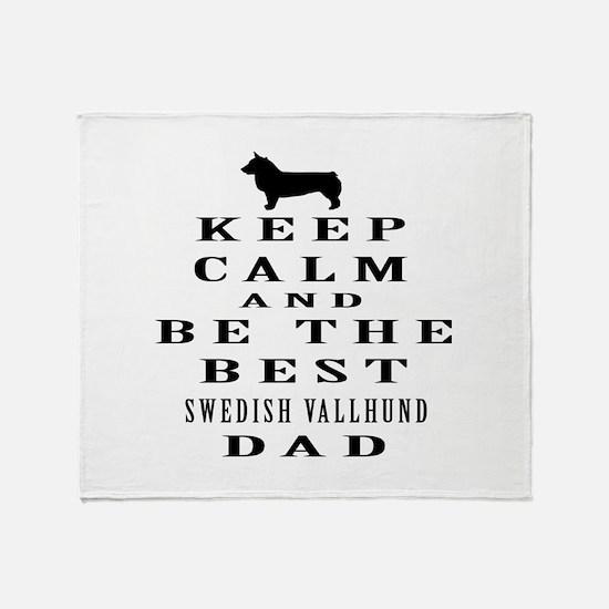 Swedish Vallhund Dad Designs Throw Blanket