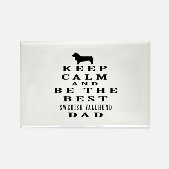 Swedish Vallhund Dad Designs Rectangle Magnet (10
