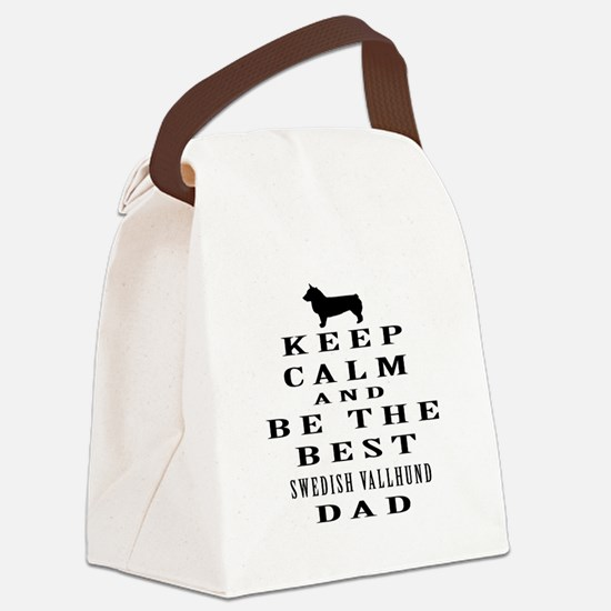 Swedish Vallhund Dad Designs Canvas Lunch Bag