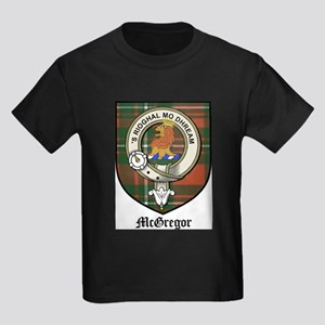 McGregor Clan Crest Tartan Kids Dark T-Shirt