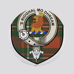 McGregor Clan Crest Tartan Ornament (Round)