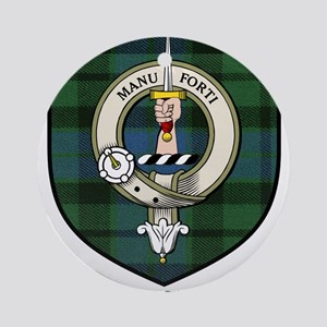 McKee Clan Crest Tartan Ornament (Round)