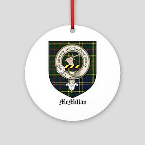 McMillan Clan Crest Tartan Ornament (Round)