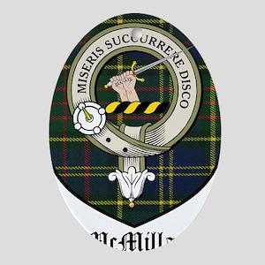 McMillan Clan Crest Tartan Ornament (Oval)