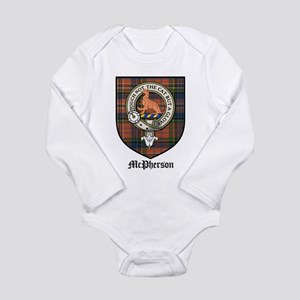 McPherson Clan Crest Tartan Long Sleeve Infant Bod