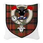 McTigue Clan Crest Tartan Woven Throw Pillow