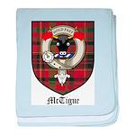 McTigue Clan Crest Tartan baby blanket