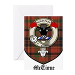 McTigue Clan Crest Tartan Greeting Cards (Pk of 20