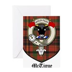 McTigue Clan Crest Tartan Greeting Card