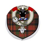 McTigue Clan Crest Tartan Ornament (Round)