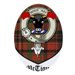 McTigue Clan Crest Tartan Ornament (Oval)
