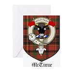 McTigue Clan Crest Tartan Greeting Cards (Pk of 10