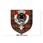 McTigue Clan Crest Tartan Postcards (Package of 8)