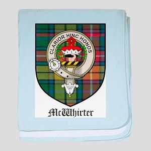 McWhirter Clan Crest Tartan baby blanket