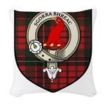 Nichols Clan Crest Tartan Woven Throw Pillow