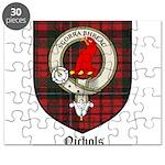 Nichols Clan Crest Tartan Puzzle