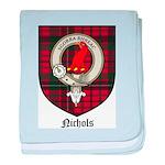 Nichols Clan Crest Tartan baby blanket