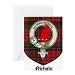 Nichols Clan Crest Tartan Greeting Card